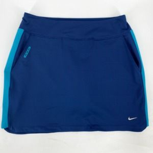 Nike Dri Fit Golf Skort Womens Medium Blue Pockets